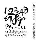 vector fonts   handwritten... | Shutterstock .eps vector #1011575734