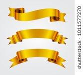 golden ribbon banners.vector...   Shutterstock .eps vector #1011577270
