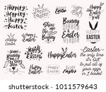 happy easter text illustration... | Shutterstock .eps vector #1011579643