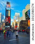 new york  usa   april 25  2015  ... | Shutterstock . vector #1011580174