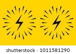 electrical sign with sparks.... | Shutterstock .eps vector #1011581290
