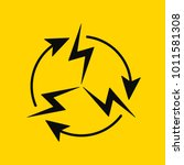 sign of electrical circulation. ...   Shutterstock .eps vector #1011581308