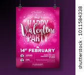 valentines day party flyer... | Shutterstock .eps vector #1011584338