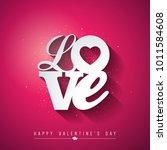 valentines day design with love ... | Shutterstock .eps vector #1011584608