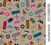 seamless geometric pattern in... | Shutterstock .eps vector #1011588100