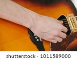 learning to play the guitar.... | Shutterstock . vector #1011589000