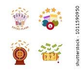 vector flat casino symbols icon ...   Shutterstock .eps vector #1011590950