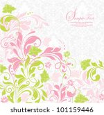 elegant green and pink floral... | Shutterstock .eps vector #101159446