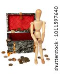 wooden figure sitting in a...   Shutterstock . vector #1011597640