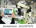 iot industry 4.0 concept... | Shutterstock . vector #1011597670