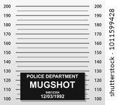 criminal mug shot line. police... | Shutterstock .eps vector #1011599428