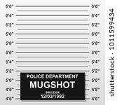 criminal mug shot line. police... | Shutterstock .eps vector #1011599434