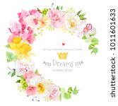 sunny spring vector design... | Shutterstock .eps vector #1011601633