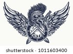 ancient warrior tattoo and t... | Shutterstock .eps vector #1011603400