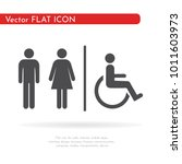 toilet icon. for web  business  ... | Shutterstock .eps vector #1011603973