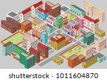 city center street  flat...   Shutterstock .eps vector #1011604870