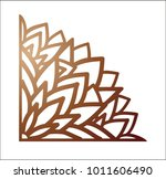 laser cutting corner. vector... | Shutterstock .eps vector #1011606490