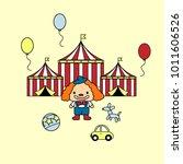 festive circus tent clown...   Shutterstock .eps vector #1011606526