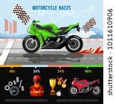 motorcycle races infographic.... | Shutterstock .eps vector #1011610906