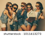 lifestyle and people concept ... | Shutterstock . vector #1011613273