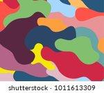 camo. abstract camo. camouflage ... | Shutterstock .eps vector #1011613309