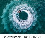 people are playing a jet ski in ... | Shutterstock . vector #1011616123
