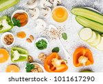 ingredients for healthy... | Shutterstock . vector #1011617290