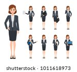 business woman character... | Shutterstock .eps vector #1011618973