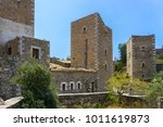a tower in mani in greece. the... | Shutterstock . vector #1011619873