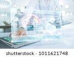 medicine doctor in brain... | Shutterstock . vector #1011621748