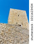 a tower in mani in greece. the... | Shutterstock . vector #1011623434