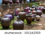 Homemade Colorful Clay Pots Fo...