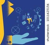businessman enjoy working... | Shutterstock .eps vector #1011625156