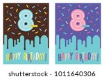 birthday greeting card with...   Shutterstock .eps vector #1011640306