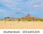 exotic beach resort in boa... | Shutterstock . vector #1011641224