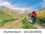 the tour du mont blanc is a... | Shutterstock . vector #1011643006