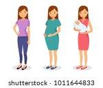 maternity concept illustration  ... | Shutterstock . vector #1011644833