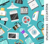 electronic household appliances ... | Shutterstock .eps vector #1011645046