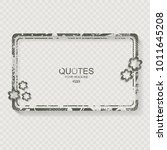 vintage frame with flowers with ... | Shutterstock .eps vector #1011645208