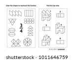 two visual math puzzles and... | Shutterstock .eps vector #1011646759