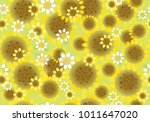 vector seamless cute floral... | Shutterstock .eps vector #1011647020