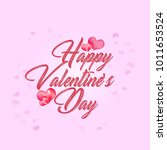 valentines day beautiful pink... | Shutterstock .eps vector #1011653524
