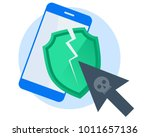 hackers attacked the mobile... | Shutterstock .eps vector #1011657136