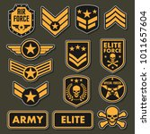 Military army badges   Shutterstock vector #1011657604