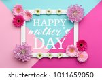 happy mother's day pastel... | Shutterstock . vector #1011659050