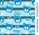 cute kids bear pattern for boys.... | Shutterstock .eps vector #1011659914
