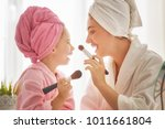 happy loving family. mother and ... | Shutterstock . vector #1011661804