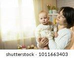 grandmother and granddaughter... | Shutterstock . vector #1011663403