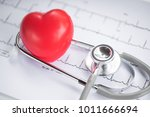 heart disease stethoscope and... | Shutterstock . vector #1011666694