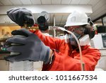 instrument technician is take... | Shutterstock . vector #1011667534